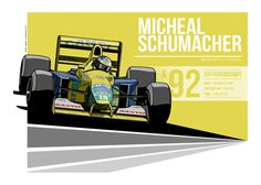 Michael Schumacher - 1992 Spa by EvanDeCiren on DeviantArt Chaz Davies, Eddie Lawson, Clay Regazzoni, Racing Tattoos, Alain Prost, Formula 1 Car, Michael Schumacher, Car Posters, Print Layout