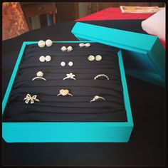 I made this myself after a bit of Pinterest inspo! A wee holder for my rings and earrings! Fun weekend craft project!