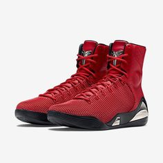 """Santa needs a new pair of boots. The Nike Kobe 9 KRM EXT """"Challenge Red"""" is available at kickbackzny.com."""