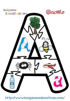 Puzle Vocales (1)                                                                                                                                                                                 Más Speech Therapy Activities, Alphabet Activities, Infant Activities, Kindergarten Activities, Educational Activities, Book Activities, Dora, Preschool Lessons, Childhood Education
