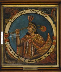 Mayta Capac, Fourth Inca, 1 of 14 Portraits of Inca Kings  Published mid 18th century