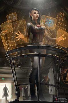 Dragon Dreams II by tjota on DeviantArt More work for 'AZTechnologyPR', done on October 2017 Commiss Cyberpunk 2077, Mode Cyberpunk, Cyberpunk Girl, Cyberpunk Clothes, Arte Sci Fi, Sci Fi Art, Dragon Dreaming, Futuristic Art, Ex Machina