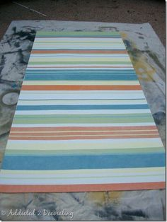 Floor cloth on pinterest painted floor cloths stenciled for Painted vinyl floor cloth