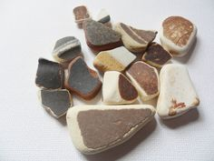 brown and cream sea pottery mix receive as pictured - Lovely English beach find from Lancashire, UK by UKSeaGlassStore on Etsy My Etsy Shop, Pottery, English, Sea, Chocolate, Brown, Desserts, Pictures, Food
