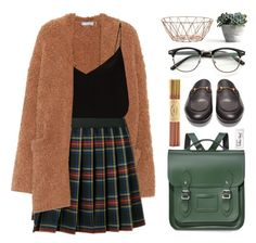 """""""Back To School Essentials"""" by the-amj ❤ liked on Polyvore featuring Vince, P.A.R.O.S.H., Raey, Gucci, The Cambridge Satchel Company, Fine & Candy, Paper Mate and Bloomingville"""