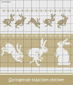 Hoppelnde Oster-Häschen sticken / Embroider bunny Easter Bunnies / / The post Crochet Easter Bunny Embroidery # Embroidery Stitch / & appeared first on Embroidery and Stitching. Cross Stitch Charts, Cross Stitch Designs, Cross Stitch Patterns, Cross Stitching, Cross Stitch Embroidery, Embroidery Patterns, Fair Isle Knitting Patterns, Knitting Charts, Punto Fair Isle