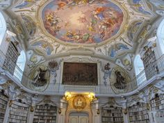 The beautiful library of Stift Admont, Austria.