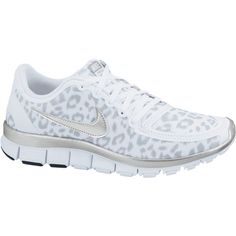 Nike Free 5.0 V4 Women's Shoes - White, 7 ($100) ❤ liked on Polyvore