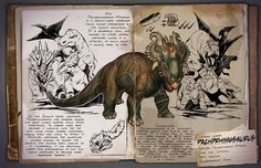 The Pachyrhinosaurus (PAK-ee-rye-no-SAWR-us) is one of the Creatures in ARK: Survival Evolved. Spinosaurus, Game Ark Survival Evolved, Walking With Dinosaurs, Dinosaur Photo, Survival Books, Prehistoric Creatures, Monster Hunter, Creature Design, T Rex