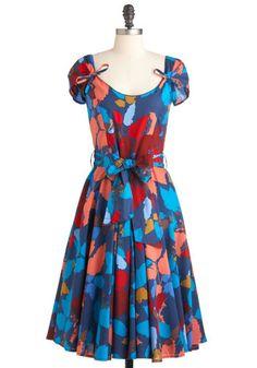 Tiptoeing through Twilight Dress, #ModCloth.   So pretty, with a cute side