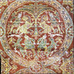 Sassanian silk ~ Iran ~ before 650 AD ~ Vatican Museum Ancient Persian, Ancient Art, Textiles, Middle East Culture, Sassanid, Medieval World, Vatican, India, Byzantine
