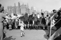 Refugee British Children arriving in New York July 1940 on board 'Samaria'