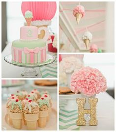 Pastel Ice Cream Parlor Themed Birthday Party
