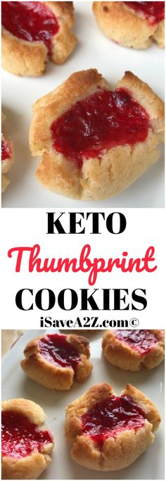 Keto Thumbprint Cookies via @isavea2z