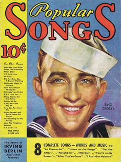 1934 Music Happy, Bing Crosby, Cover Band, Sing To Me, Music Magazines, Christmas Night, Dreaming Of You, Singing, Blues