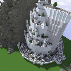 Minas Tirith in Minecraft