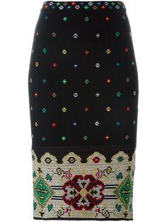 Alexander McQueen юбка-карандаш с цветочным узором
