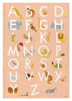 Alphabet poster by Rifle Paper Co.