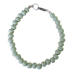 Armband Simply Wood Zilver - Ambrosia Green