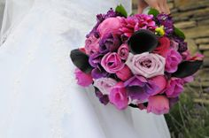 Beautiful, bright mix of purples, lavenders with a pop of hot pink!! One of my faves!!