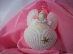 Shell Angel Ornaments Pink Wings