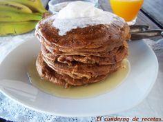 El cuaderno de recetas: Tortitas de Gofio y Plátano.