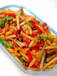 Shredded potatoes with sweet and sour flavor