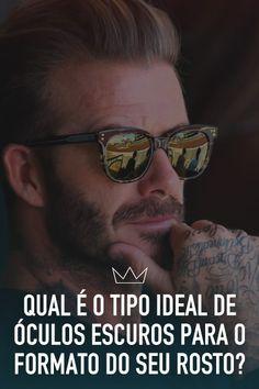 óculos escuros, óculos de sol, formato, rosto Fashion News, Mens Fashion, My Life Style, Pose, Mens Glasses, David Beckham, New Words, Stylish Men, Mirrored Sunglasses