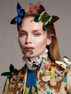 Natasha Poly por Txema Yeste para Vogue Rússia Abril 2015  [Couture]