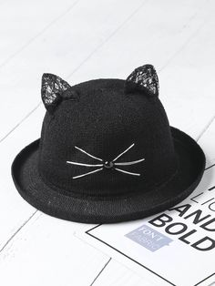 Shop Cute Face Pattern Hat With Cat Ear online. SheIn offers Cute Face Pattern Hat With Cat Ear & more to fit your fashionable needs.