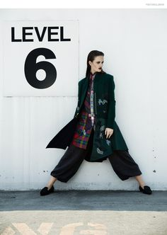 (This Page & Next) Top Tommy Hilfiger, Jacket iCB, Pants Lars Andersson, Shoes Mode Collective
