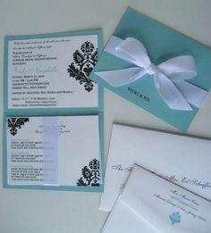 Something Blue Bridal Shower Invitations