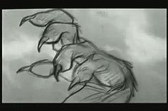 black-white-disney:  Beast's transformation pencil test