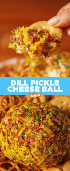 Dill Pickle Cheeseball  - Delish.com
