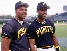 Bobby Bonilla & Barry Bonds - Pittsburgh Pirates Before he signed with Giants he had won at least 3 MVP's as a young man and yet teammates like Andy Van Slyke who didn't get the notoriety as B&B
