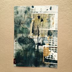 Monotype with tea bag collage www.rubysilvious.com