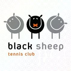 Black sheep logo by Tarrak Animal Projects, Craft Projects, Cafe Design, Logo Design, Graphic Design, Sheep Logo, Baa Baa Black Sheep, Make Your Logo, Animal Silhouette