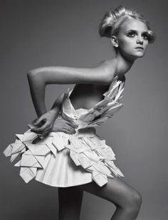Paper dress by Sandra Buckland 2011 http://www.pagesfrommymoleskine.com