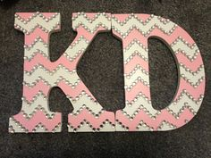 Big Little Letters KD Chevron crafting