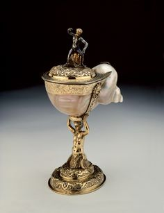 Turban Shell Cup. Germany, Augsburg, ca.1610