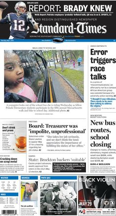 The Standard-Times. May 7, 2015  'Miscommunications' lead to the need for race talks at UMD; superintendent proposes bus route changes and closure of Kempton school to save New Bedford money; Freetown calls public hearing for treasure and more.