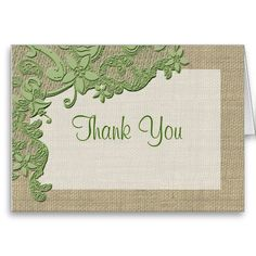 Vintage Style Lace Photo Thank You Greeting Cards