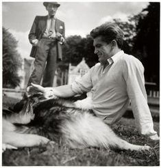 Portrait of Jean Cocteau and Jean Marais by Sam Levin, 1950's