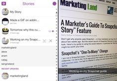 snapchat stories closeup