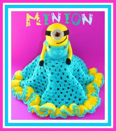 Connie's Spot© Crocheting, Crafting, Creating!: Free Minion Inspired Granny Square Security Blanket Pattern©