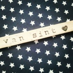 Label voor Sinterklaas cadeau.