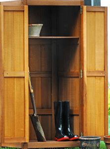 outside storage cabinets with shelves | Outdoor Patio Buffet and Teak Storage Cabinets - Patented Storage ... | Storage items | Pinterest | Buffet cabinet ... & outside storage cabinets with shelves | Outdoor Patio Buffet and ...