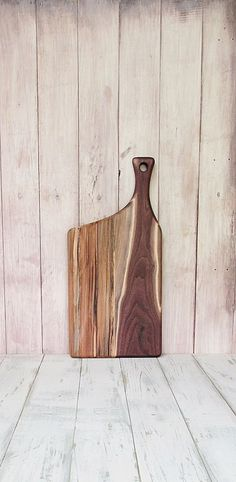 Wooden Cutting Board Walnut Spalted Maple Offset by foodiebords, $51.27