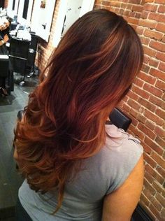 auburn ombre hair color with highlights | Auburn Ombre + Cut + BlowOut | Yelp