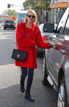 Emma Roberts is seen on January 2014 in Los Angeles, California. Emma Roberts, Teen Vogue, Fur Fashion, Winter Coat, Faux Fur, Winter Outfits, Fur Coat, Leather Jacket, Jackets